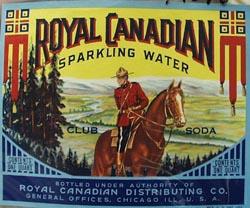 Royal Canadian Sparkling Water Bottle Label