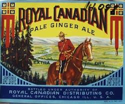 Royal Canadian Pale Ginger Ale Bottle Label