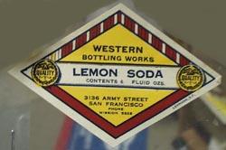 Western Bottling Works Lemon Soda Bottle Label.