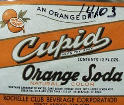 Cupid Orange Soda Bottle Label