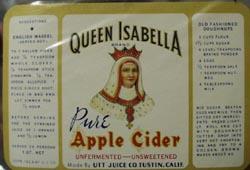 Queen Isabella Apple Cider Bottle Label