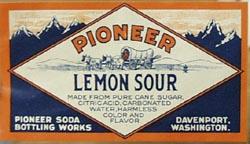 Pioneer Lemon Sour Bottle Label.