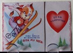 Puppy on Skis Valentine.