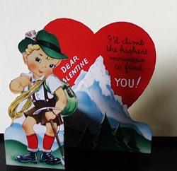 Mountain Climbing Boy Valentine.