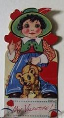 Girl With Teddy Bear Valentine.