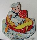 Boy in Boat Valentine.