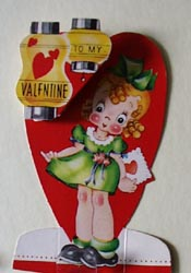 Girl in Green Party Dress Valentine.