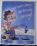 Man with Pipe Fishing Christmas Card..