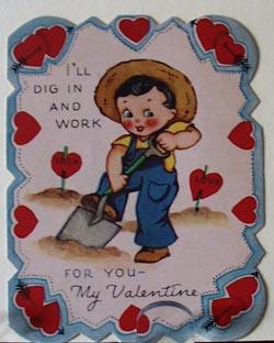 Boy With Shovel Valentine.