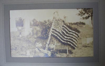 U S Flag in Cemetary Photograph