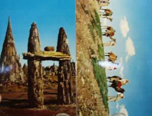 Camel Caravan & Wood Rock S D Postcards