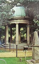 Tomb A Jackson At Dusk Postcard