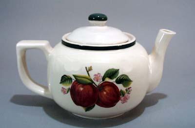 China Pearl Apple Teapot, Nice heavy ceramic teapot