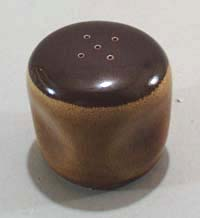 Russel Wright Salt Shaker in Brown Drip / chickory