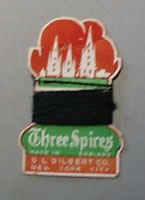 Three Spires Thread mad in England S.L. Gilbert New York City.