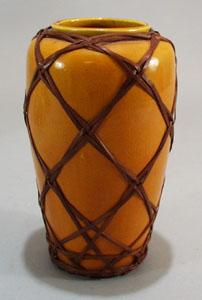 Mustard Yellow Satsuma? Vase