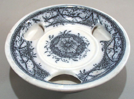 Flow Blue, Troy by Grindley & Co Butter dish?,
