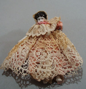 Cival War Era Doll, Pink dress with lace