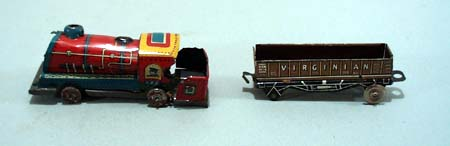 2 penny train toys,