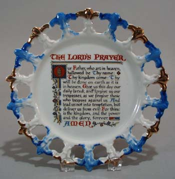 The Lords prayer open edge plate.