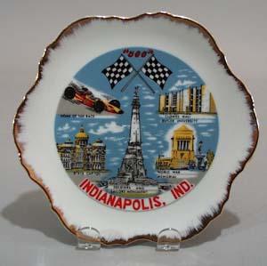 Porcelain Indianapolis speedway porcelain plate.