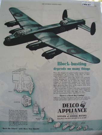 Delco Appliance Block-Busting Ad 1943