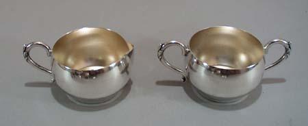 Home Decorators Silver Sugar bowl and Creamer.