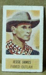 Cracker Jack Card? Western theme showing Jesse James