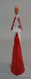 Red clay Italian Cardinal religious figurine.