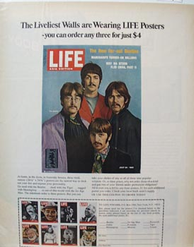 Beatles Poster Ad Late 1960's.