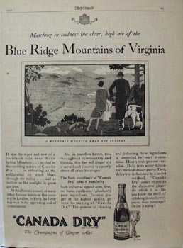 Canada Blue Ridge Mountains Ad 1929