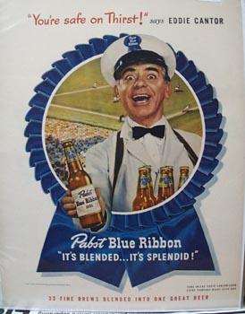 Pabst Beer Eddie Cantor Ad 1947
