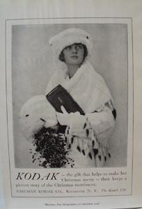 Eastman Kodak Christmas Ad 1919