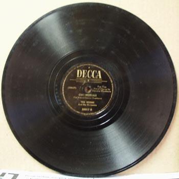 Decca 78 rpm record Oh! Monah