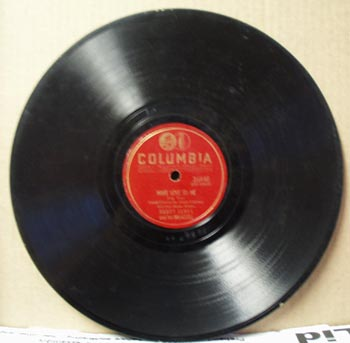 Columbia 78rpm record Make Love to me by Harry James