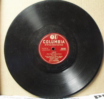 Columbia 78rpm Love by Harry James