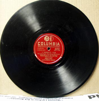 Columbia 78 rpm I promise you record by Horace Heidt