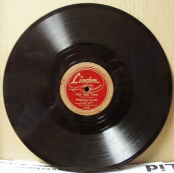Linden 78rpm Tea for two by Freeman Clark