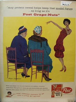 Post Grape Nuts Model Figure Ad 1958