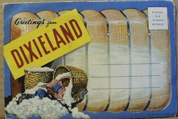 1940's Dixieland drop down photo cards