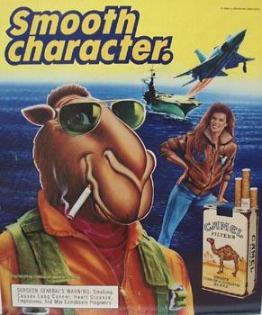 Joe Camel Cigarettes Ship at Sea Ad 1989