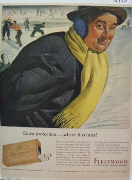 Fleetwood Cigarette Extra Protection Ad 1943