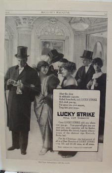Lucky Strike After the Show Ad 1914