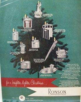 Ronson Christmas Ad 1949