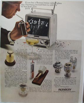 Ronson Christmas Ad 1966