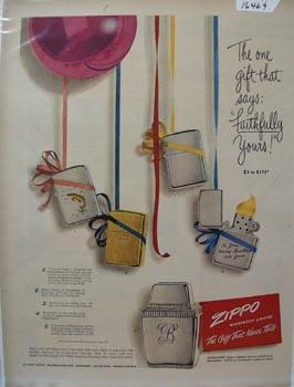 Zippo Lighter Faithfully Yours Ad 1949