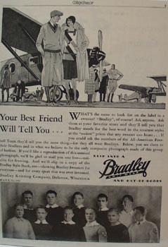 Bradley Knit Wear Best Friend Ad 1929