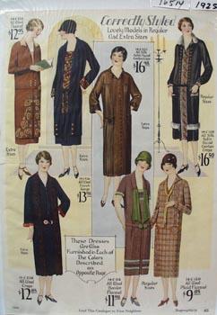Montgomery Ward Correctly Styled Dress Ad 1925