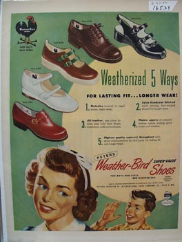 Weather-Bird boys & Girls Shoes Ad 1950