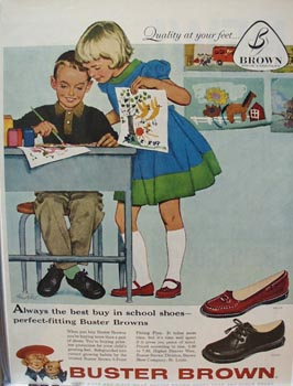 Buster Brown Always Best Buy Shoes Ad 1958